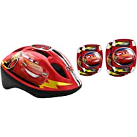 STAMP SAS Combo Cars (Helm + Elbow &amp- Knee Pads)- Niños- Rojo- 5+